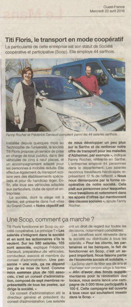 20160420 OUEST FRANCE