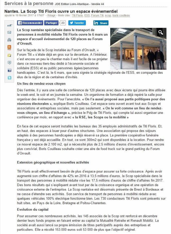 20170216 JOURNAL DES ENTREPRISES LOIRE-ATLANTIQUE - VENDEE